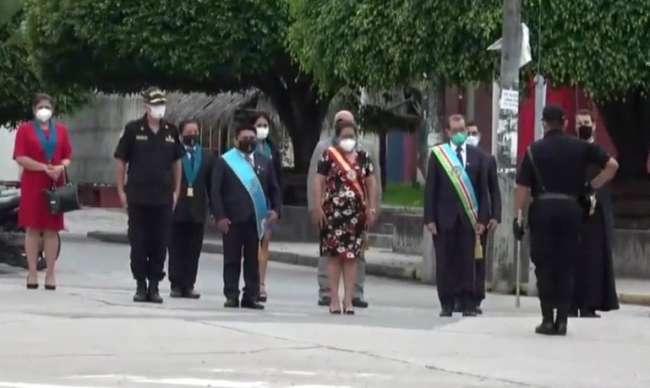 Autoridades rindieron homenaje a Moyobamba por sus 480 aniversario