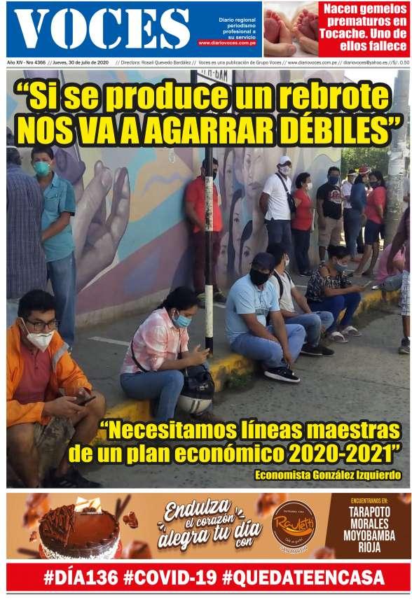 Diario Digital Jueves 30 de Julio del 2020