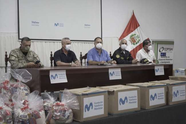 Movistar entregó kit de prevención para personal de atención contra el Covid-19