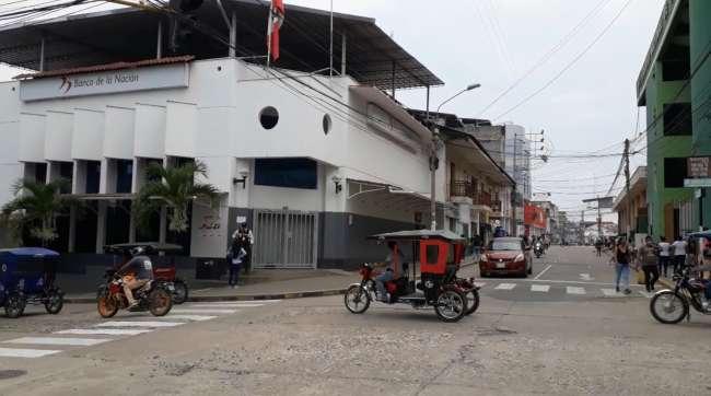 Suspenden atenciones en el Banco de La Nación de Tarapoto por posible cuarentena