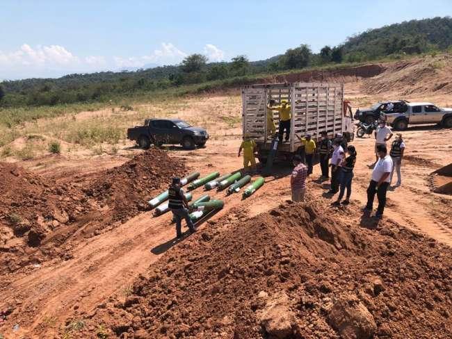 Por disposición del sector salud. Destruyen balones de oxígeno incautados en operativos realizado en Tarapoto