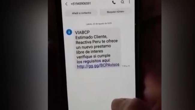 PNP ALERTA A LA POBLACIÓN. Aparece nueva modalidad de estafa con el cuento de acceder a préstamos de Reactiva Perú