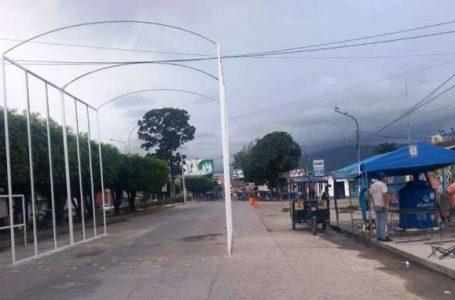Retiran tranqueras y cámara de desinfección en Moyobamba