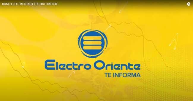 Electro Oriente Comunica. Bono S/160.00