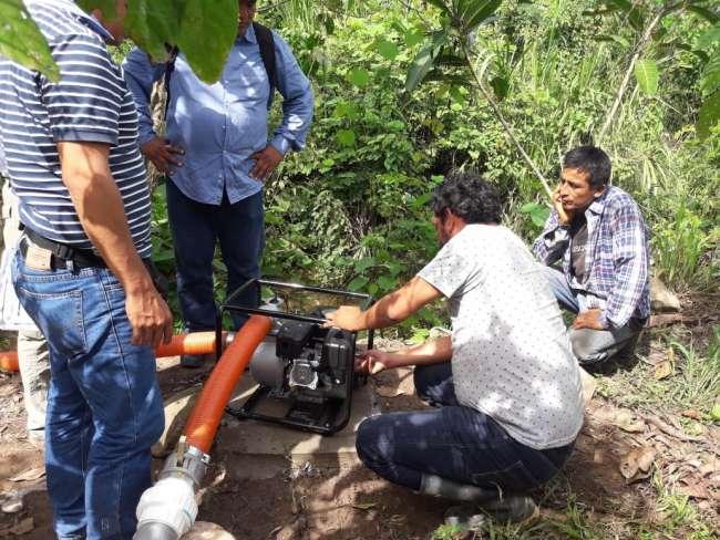 Cafetaleros ponen en operatividad sistemas de fertirriego en sus cultivos