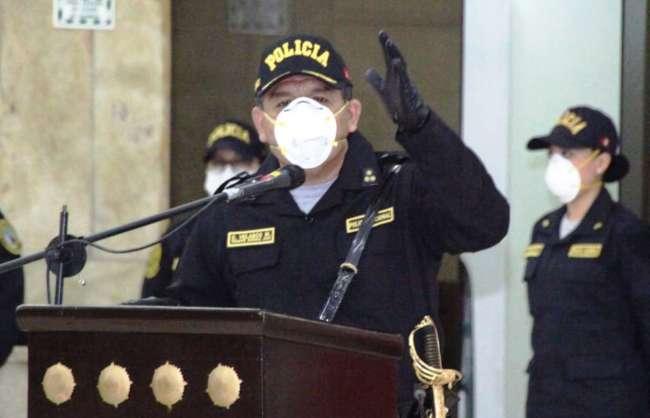 Orlando Velasco Mujica es el nuevo comandante general de la Policía Nacional