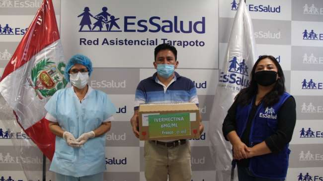 EsSalud Tarapoto realiza primera entrega de Ivermectina