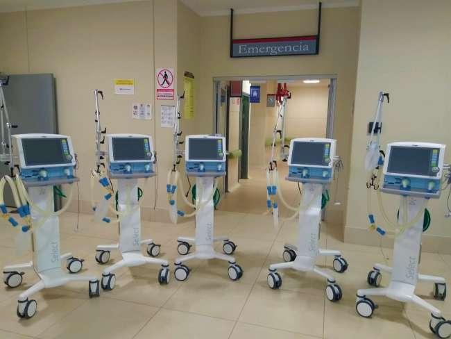 Cinco ventiladores mecánicos más para el hospital de Moyobamba