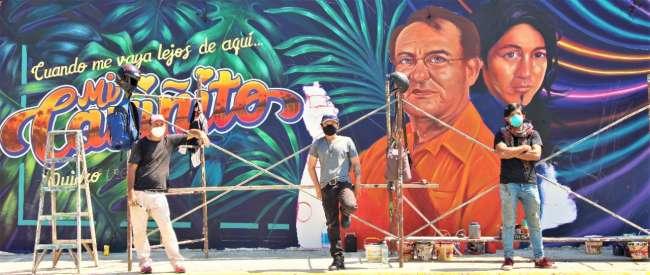Rinden homenaje a la música amazónica a través de mural