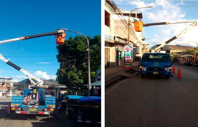 Modernizan Alumbrado Público en Yurimaguas