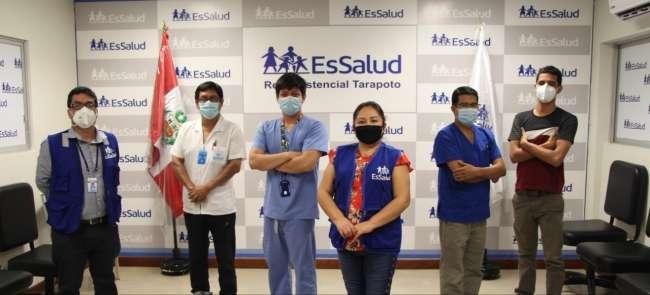 Médicos de EsSalud Tarapoto refuerzan atenciones a  pacientes Covid-19