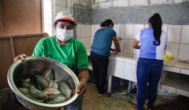 En zona de frontera Goresam entregó 800 kg. de pescado fresco