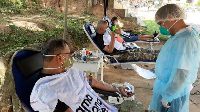 Ejército del Perú se suma a campaña de donación de sangre en Tarapoto