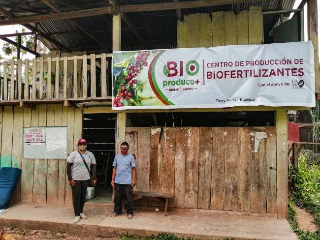 BIOPRODUCE+, biofertilizantes creado por caficultores del caserío César Vallejo