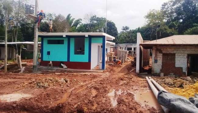 Obras de alcantarillado sanitario en Sauce en su etapa final