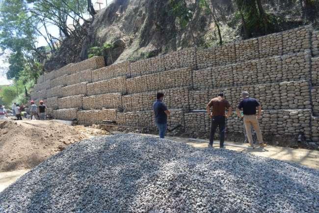 Alcalde Tedy del Aguila visita obras que vienen siendo ejecutadas por la Municipalidad Provincial de San Martín