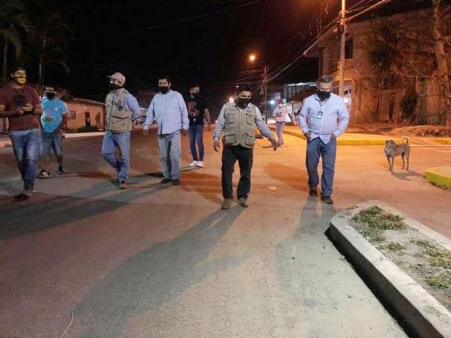 Alcalde inspecciona asfalto del asfalto del Jirón Manuel del Águila – Punte de Doñe