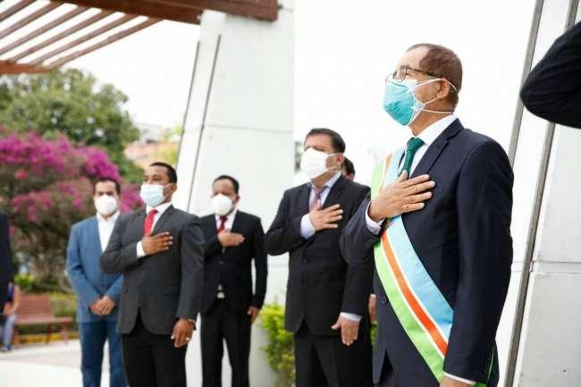 Gobernador y consejeros participaron en ceremonia protocolar por los 114 años de creación de San Martín