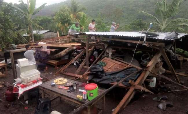 Torrencial lluvia de ayer destruye una vivienda en la localidad de Panjuí
