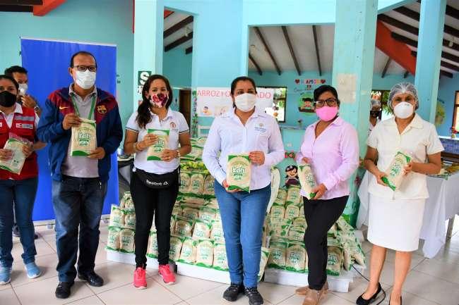 Niños de la Aldea Infantil Virgen del Pilar consumirán arroz fortificado para prevenir la anemia