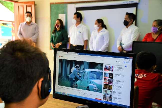 Niños de aldea infantil Virgen del Pilar ya cuentan con aula virtual