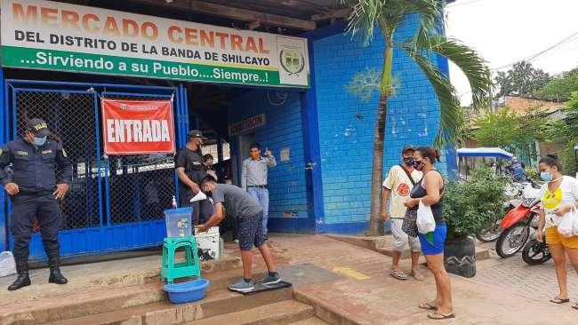 Refuerzan medidas de bioseguridad en mercados de Tarapoto y La Banda de Shilcayo