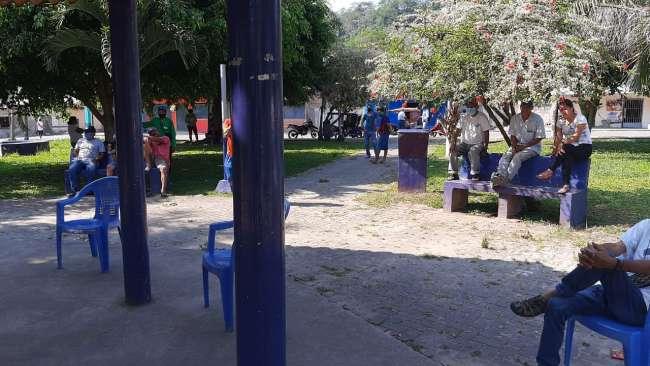 Pobladores de San Pedro de Cumbaza paralizan obra y exigen cambios