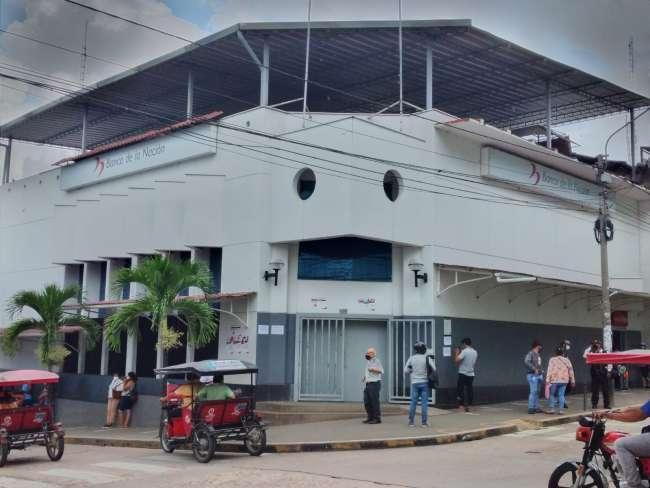 Banco de la Nación de Tarapoto suspende atención por cuarentena y Defensoría del Pueblo brinda recomendaciones