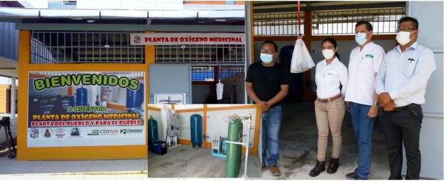 Entregan planta de oxígeno medicinal a Hospital Santa Gema de Yurimaguas
