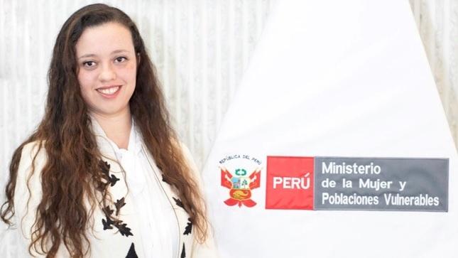 Joven profesional natural de Moyobamba fue designada Viceministra de la Mujer y Poblaciones Vulnerables