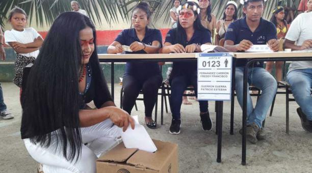 Récord de ausentismo del electorado en la amazonia.