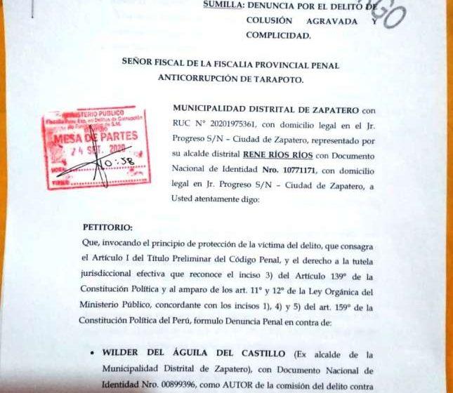 Denuncian ante fiscalía a ex alcalde de Zapatero por aparentes irregularidades