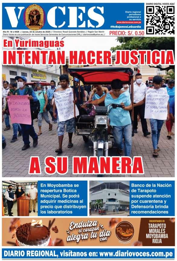 Diario Digital Jueves 22 de Octubre del 2020