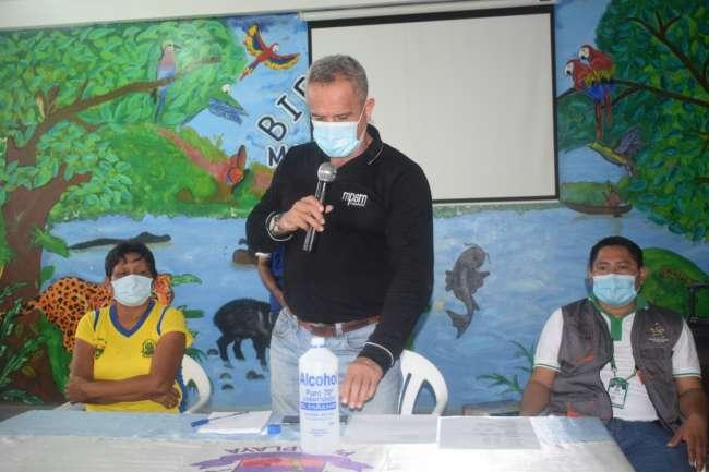 Alcalde Tedy del Aguila realizó visita al Bajo Huallaga para inspeccionar obras que ejecuta la MPSM