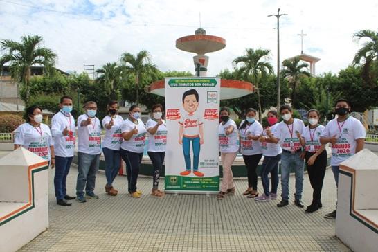 Impulsan campaña tributos solidarios mediante visitas domiciliarias