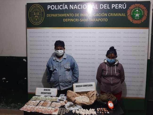 Intervienen a dos personas sindicadas de microcomercializar drogas en San Martín de Alao