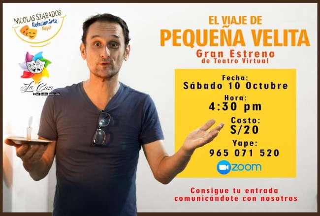 La Casa del Teatro Tarapoto estrena, hoy sábado 10 de octubre, obra virtual