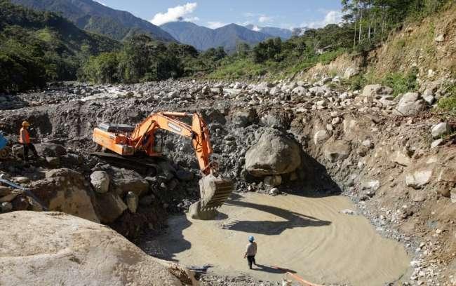 Inician construcción del puente vehicular Pampa Hermosa en el distrito de Shunté