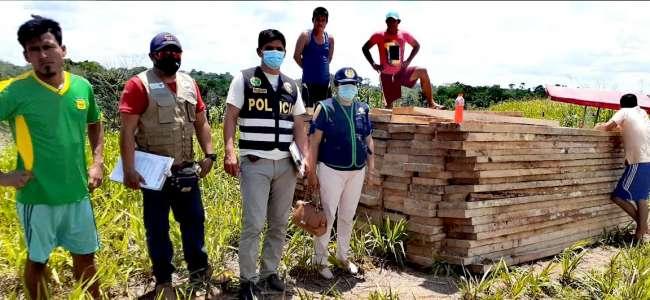 Fiscalía Ambiental inmovilizó 6000 mil pies  tablares de madera en Alto Amazonas