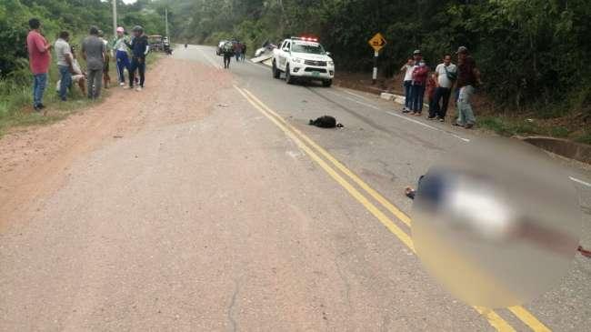 En violento accidente muere de manera instantánea un motociclista