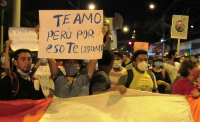 Movilizaciones en Tarapoto se desarrollaron de manera pacífica