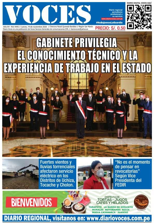 Diario Digital Jueves 19 de Noviembre del 2020
