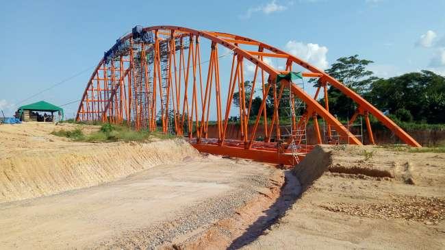 Imponente puente se levanta en Valle arrocero del Shanusi