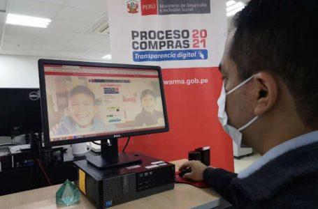 Qali Warma realiza primera convocatoria para el Proceso de Compras Electrónico 2021