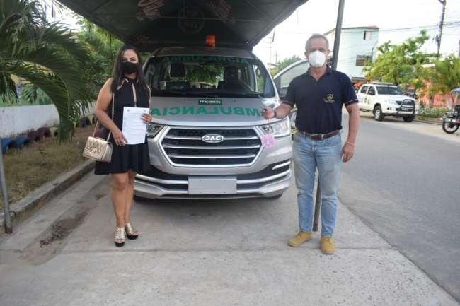 Respira San Martín realizó entrega de ambulancia al cuerpo de Serenazgo de Tarapoto