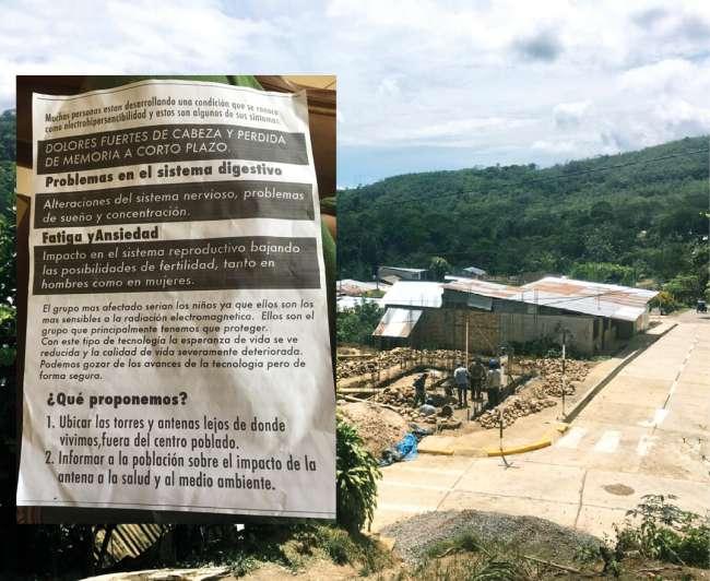 Población de San Roque de Cumbaza exige reubicación de antena para telefonía móvil y banda ancha