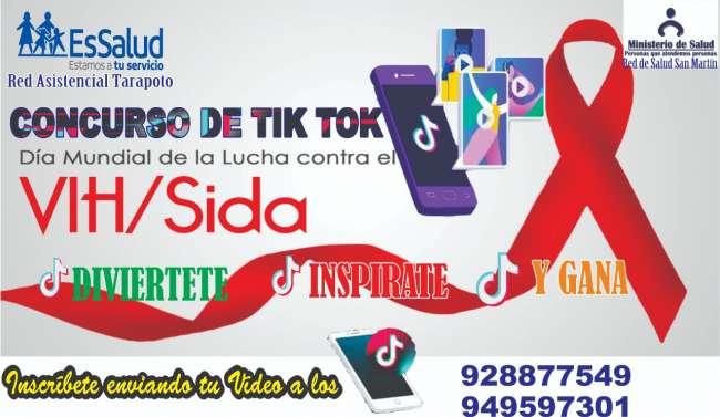 EsSalud Tarapoto y Red de Salud San Martín organizan concurso de Tik Tok por el Día Mundial de Lucha contra el VIH