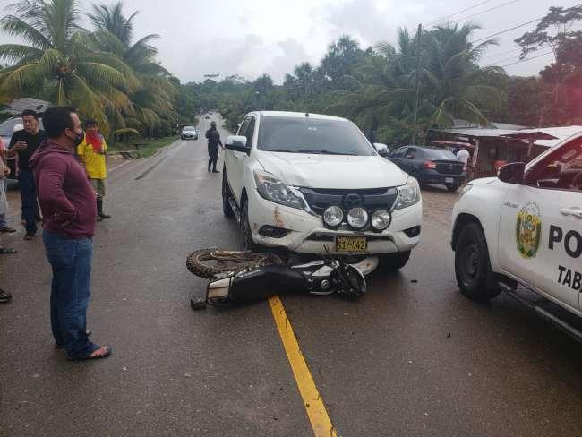 Precandidato al Congreso de la República Sandro Rivero involucrado en  accidente de tránsito