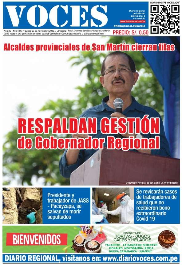 Diario Digital Lunes 23 de Noviembre del 2020