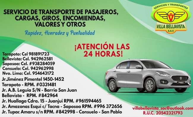 Avisos Clasificados: Servicios de Transportes Villa Bellavista